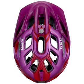 KED Trailon Fietshelm rood/violet